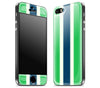Green Striped / Charcoal <br>iPhone 5s - Glow Gel Combo