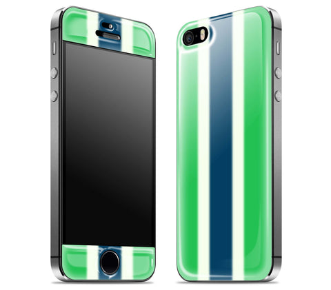 Green Striped <br>iPhone 5s - Glow Gel Skin