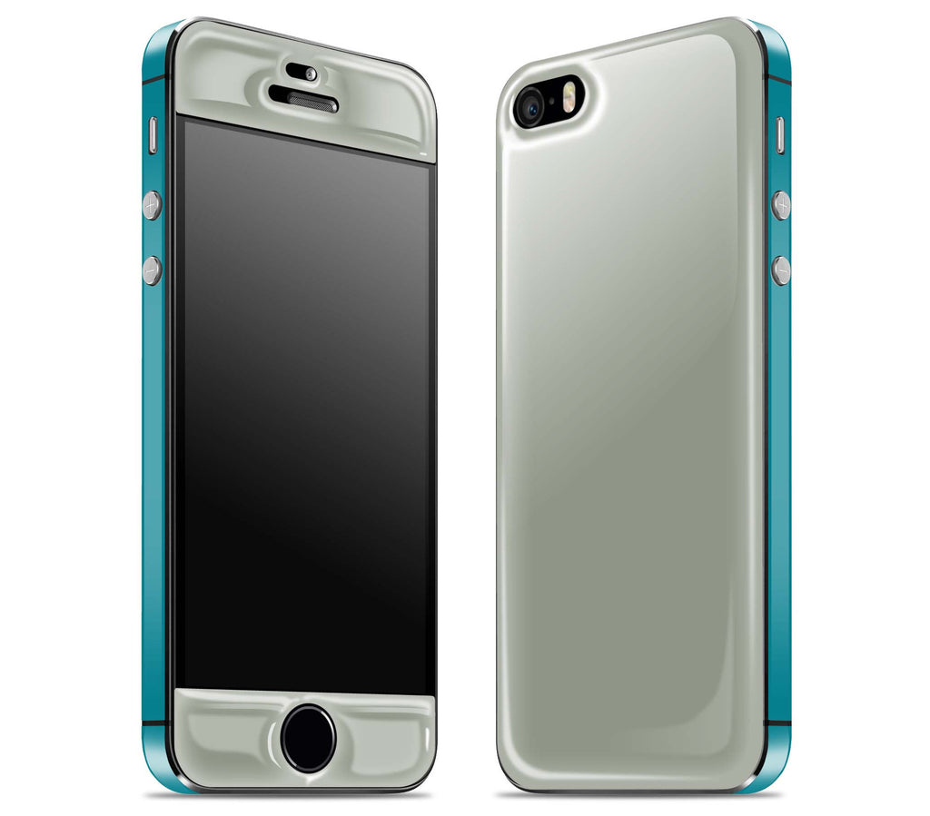 Steel Ash / Teal <br>iPhone 5s - Glow Gel Combo