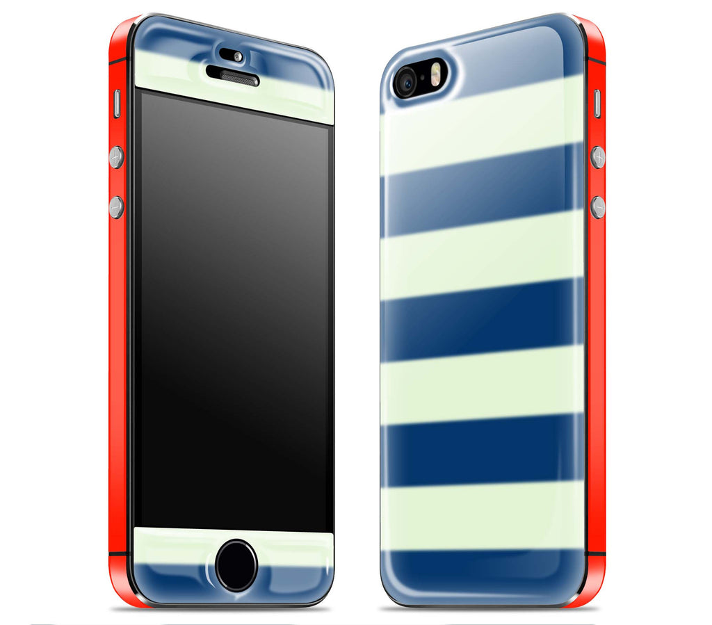 Nautical Striped / Red <br>iPhone 5s - Glow Gel Combo