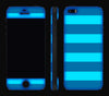 Nautical Striped / Neon Pink <br>iPhone 5s - Glow Gel Combo