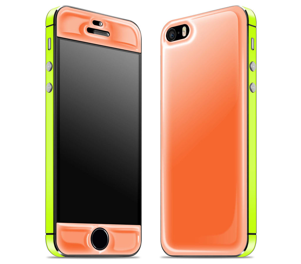 Tangerine / Neon Yellow <br>iPhone 5s - Glow Gel Combo