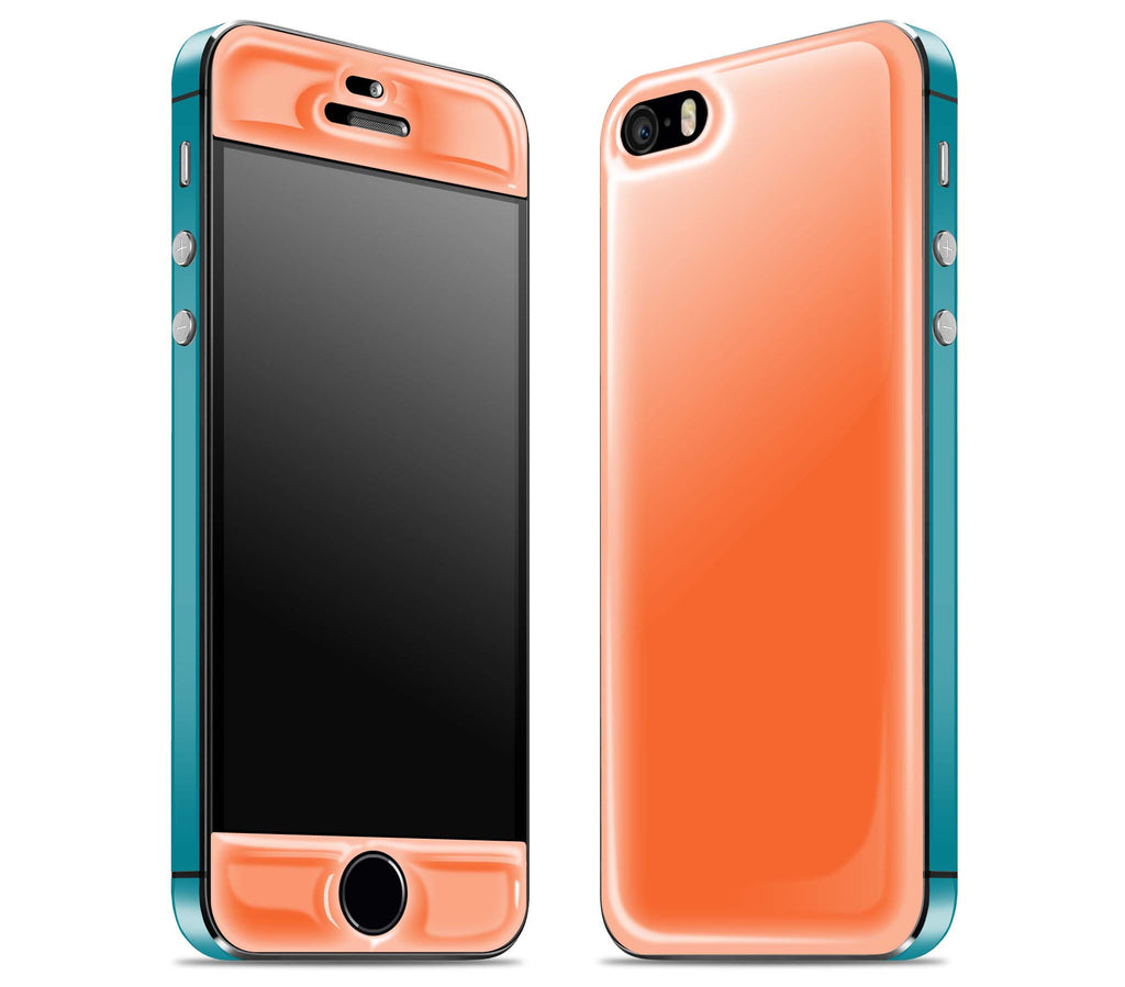Tangerine / Teal <br>iPhone 5s - Glow Gel Combo