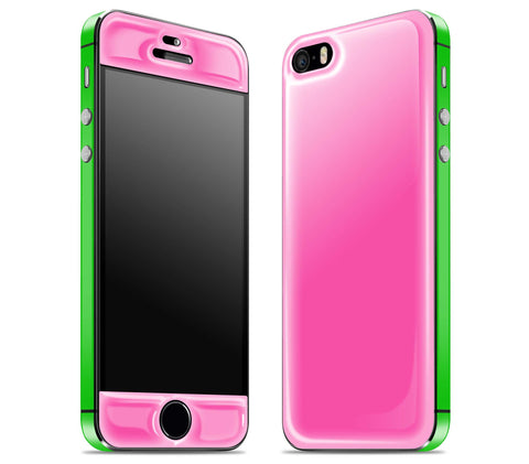 Cotton Candy / Green <br>iPhone 5s - Glow Gel Combo