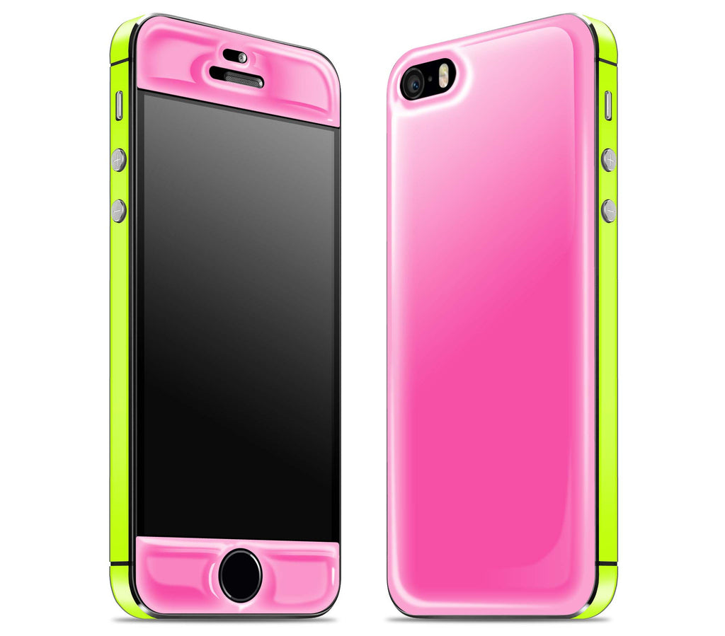 Cotton Candy / Neon Yellow <br>iPhone 5s - Glow Gel Combo