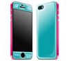Teal / Neon Pink <br>iPhone 5s - Glow Gel Combo