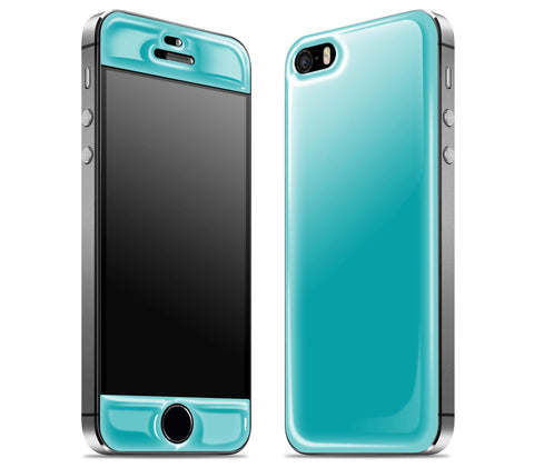 Teal <br>iPhone 5s - Glow Gel Skin