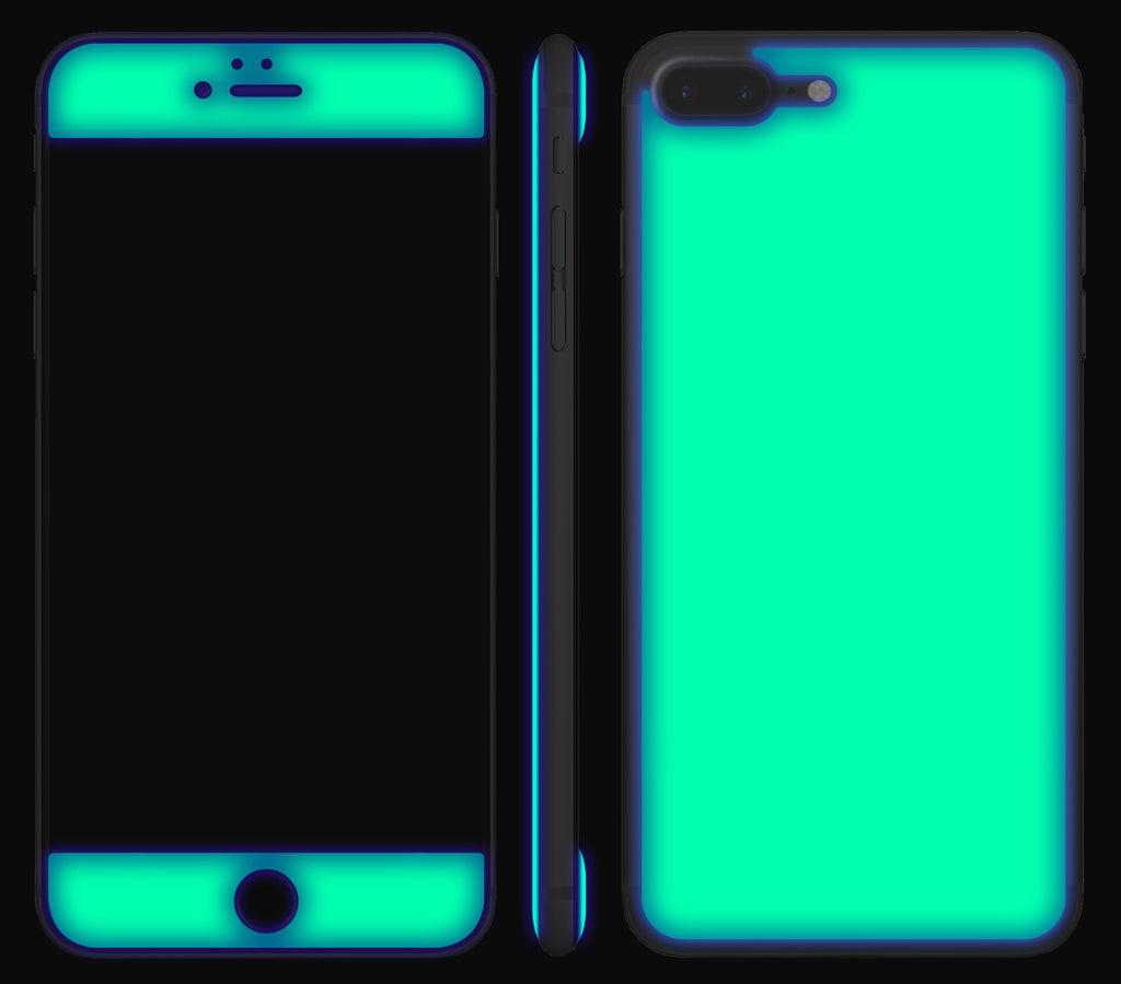 premium selection 97dae a608d iPhone 7/8 PLUS Case Green Neon Yellow Glow In The Dark Gel Skins ...