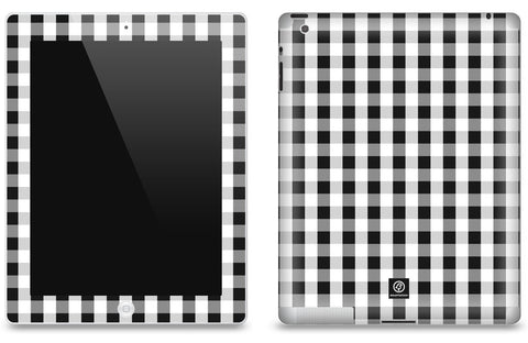 Black & White Check <br>Matte Skin - iPad 2 & 3