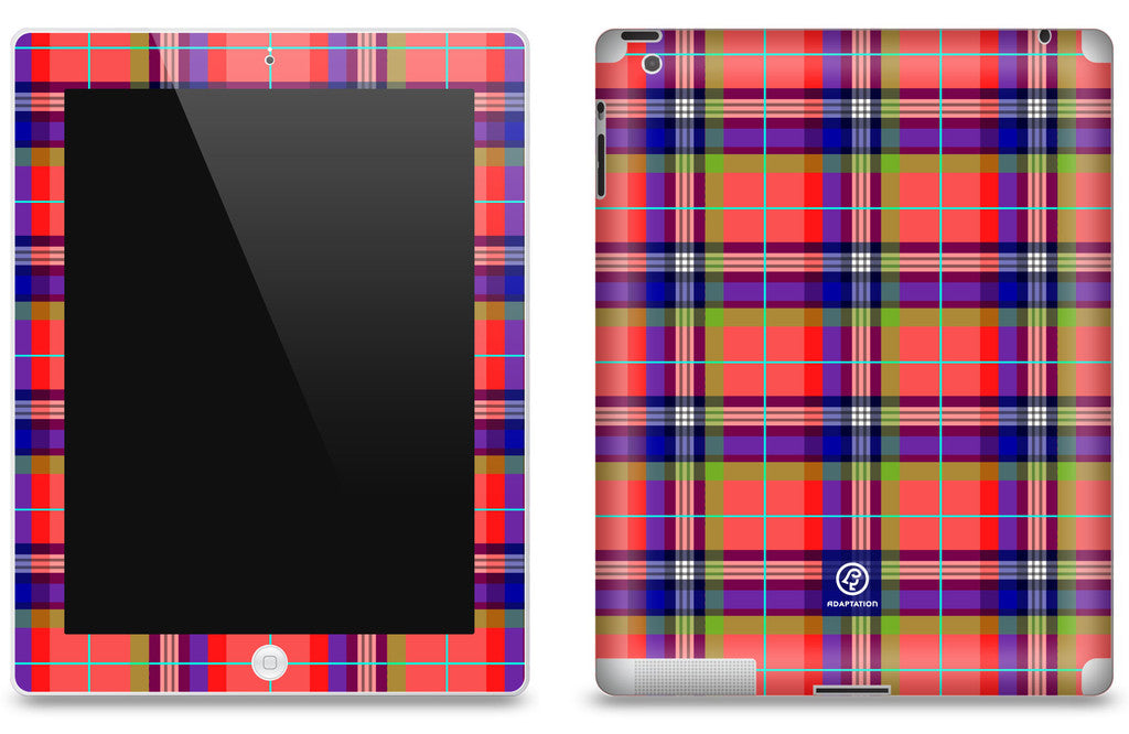 Collegiate Plaid<br> Matte Skin - iPad 2 & 3