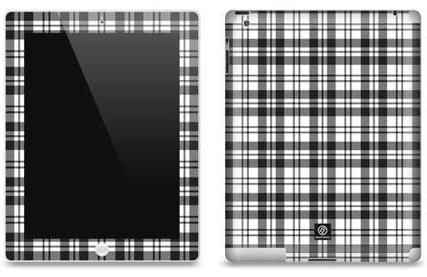 Black & White Plaid <br>Matte Skin - iPad 2 & 3