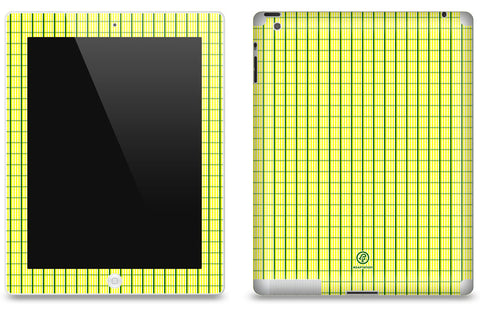 Yellow & Green Plaid <br>Matte Skin - iPad 2 & 3