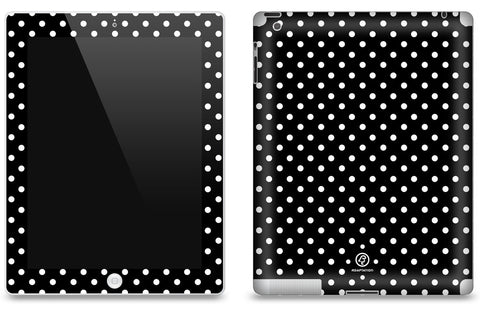 Black Polka Dot <br>Matte Skin - iPad 2 & 3