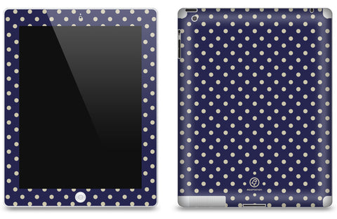 Navy Polka Dot <br>Matte Skin - iPad 2 & 3