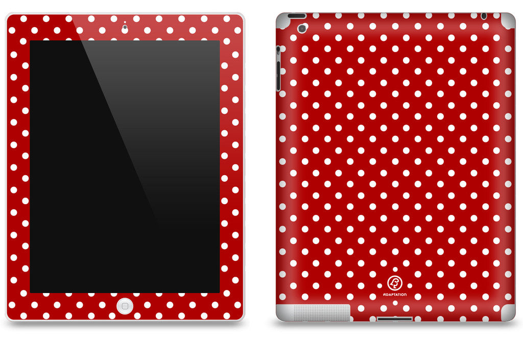 Red Polka Dot <br>Matte Skin - iPad 2 & 3