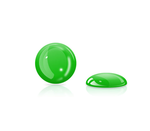 Bright Green Gel Button <br>All iPhones, iPods, iPads