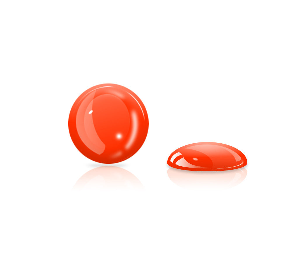 Fire Red Gel Button <br>All iPhones, iPods, iPads