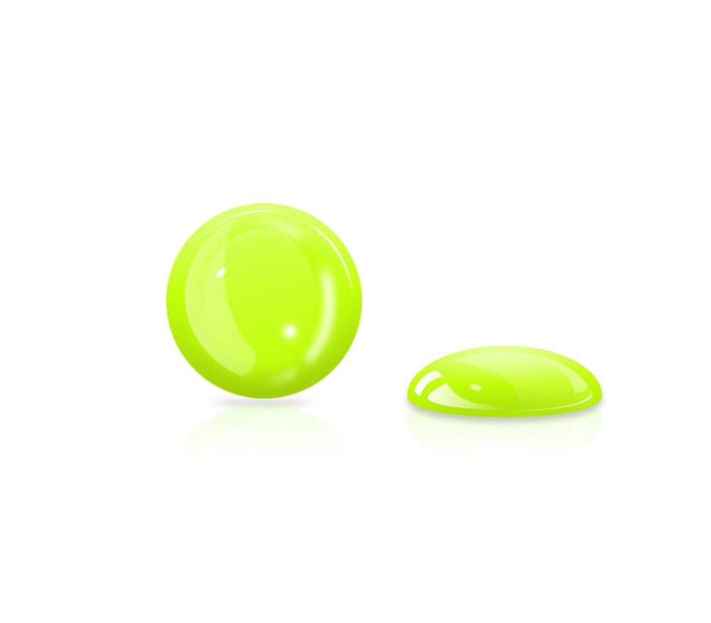 Neon Yellow Gel Button <br>All iPhones, iPods, iPads