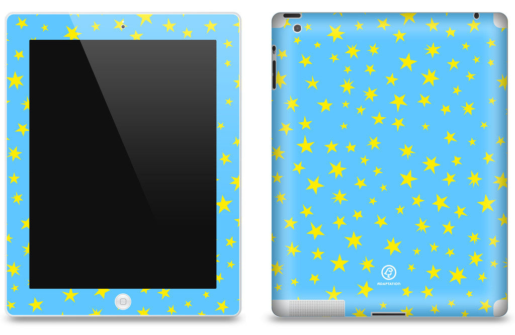 Stars Bright Blue <br>Matte Skin - iPad 2 & 3
