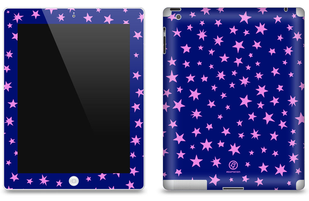 Stars Purple <br>Matte Skin - iPad 2 & 3