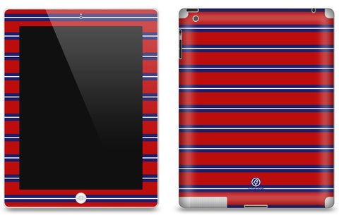 Red & Blue Striped <br>Matte Skin - iPad 2 & 3