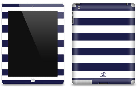Navy Striped <br>Matte Skin - iPad 2 & 3