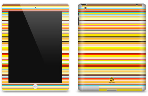 Thin Multi Striped <br>Matte Skin - iPad 2 & 3