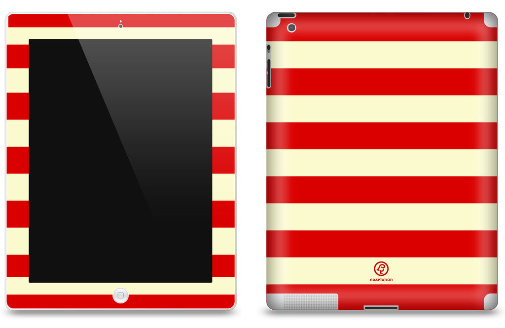 Red Striped <br>Matte Skin - iPad 2 & 3