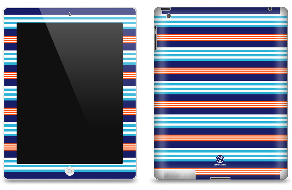 Blue Tangerine Striped <br>Matte Skin - iPad 2 & 3