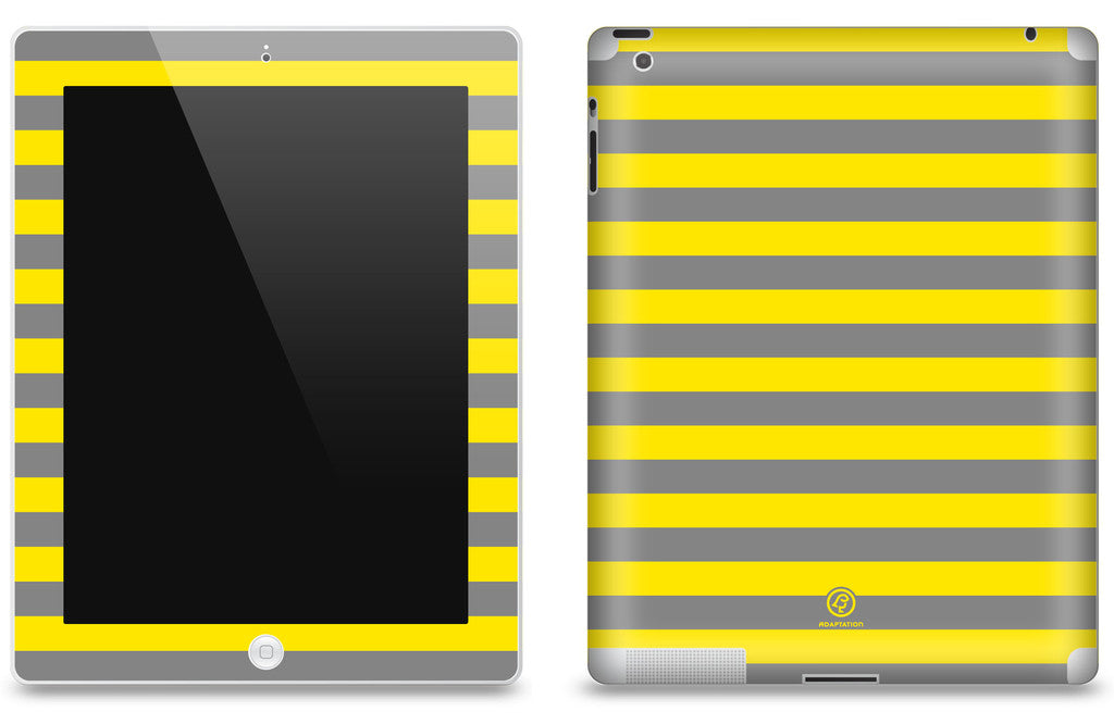 Yellow Striped <br>Matte Skin - iPad 2 & 3