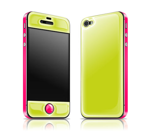 Citron / Neon Pink<br> Glow Gel skin - iPhone 4 / 4s