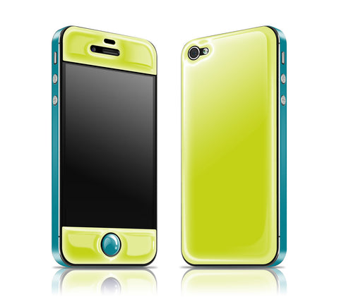 Citron / Teal<br> Glow Gel skin - iPhone 4 / 4s