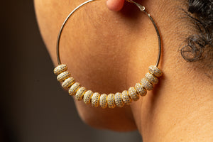 Crescent Hoop Earrings