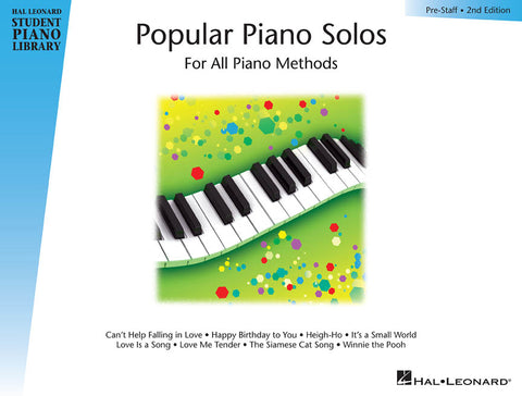 Popular Piano Solos – Prestaff Level  2nd Edition Hal Leonard Student Piano Library