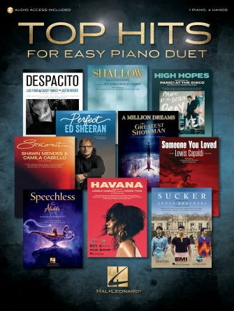 Top Hits for Easy Piano Duet 1 Piano, 4 Hands