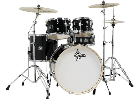 Gretsch Energy 5-Piece Kit with Full Hardware Package & Zildjian Cymbals Black