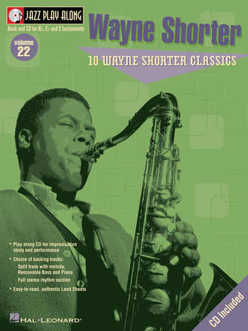 Wayne Shorter Jazz Play-Along Volume 22