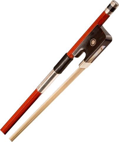 Brazilwood viola bow, octagon stick Silver Grip