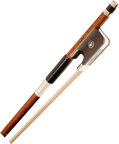 Dorfler finest aged Brazilwood viola bow octagon stick with Parisian eye