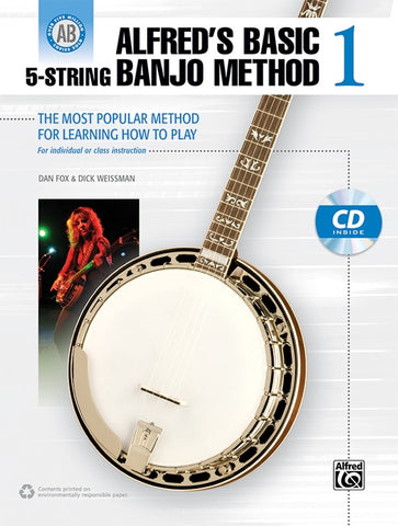 Alfred's Basic 5-String Banjo Method 1 The Most Popular Method for Learning How to Play - Book & CD