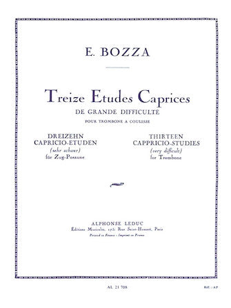13 Capriccio Studies, For Trombone