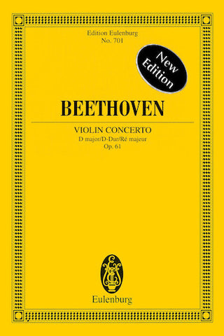 Violin Concerto in D Major, Op. 61 New Edition