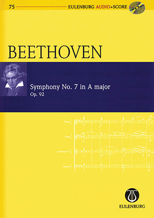 Symphony No. 7 in A Major Op. 92- Eulenburg Audio Score 75- Eulenberg Audio plus Score- Softcover with CD- Study Score