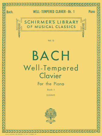 Well Tempered Clavier – Book 1 Schirmer Library