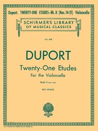 21 Etudes - Book 2-cello Composer: Jean-Pierre Duport