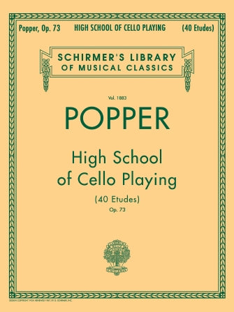 David Popper: High School of Cello Playing, Op. 73