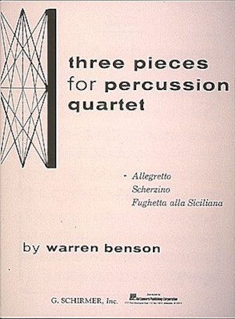 Allegretto from Three Pieces for Percussion Quartet