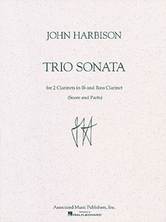 Trio Sonata Score and Parts - Clarinet Trio