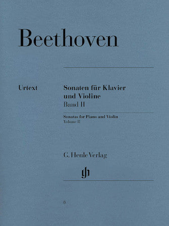 Beethoven  Sonatas for Piano and Violin – Volume II - Henle Urtext Edition  Ed:Sieghard Brandenburg
