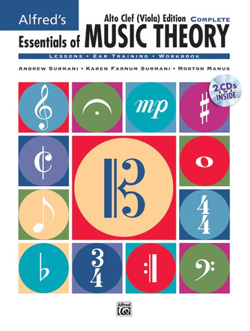 Alfred's Essentials of Music Theory: Complete Alto Clef Viola Edition bk and cds
